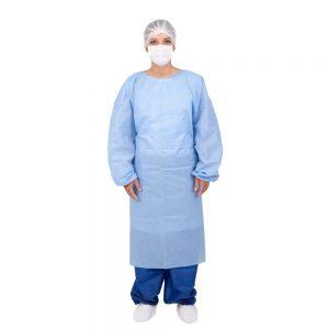 avental cirúrgico estéril manga longa azul em guarapuava paraná